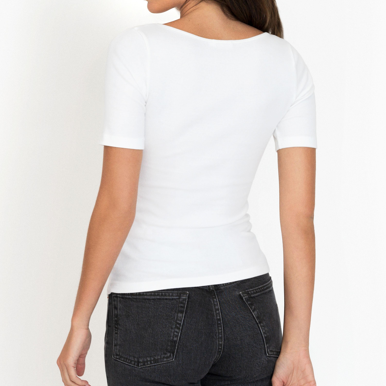 T-shirt ribbed