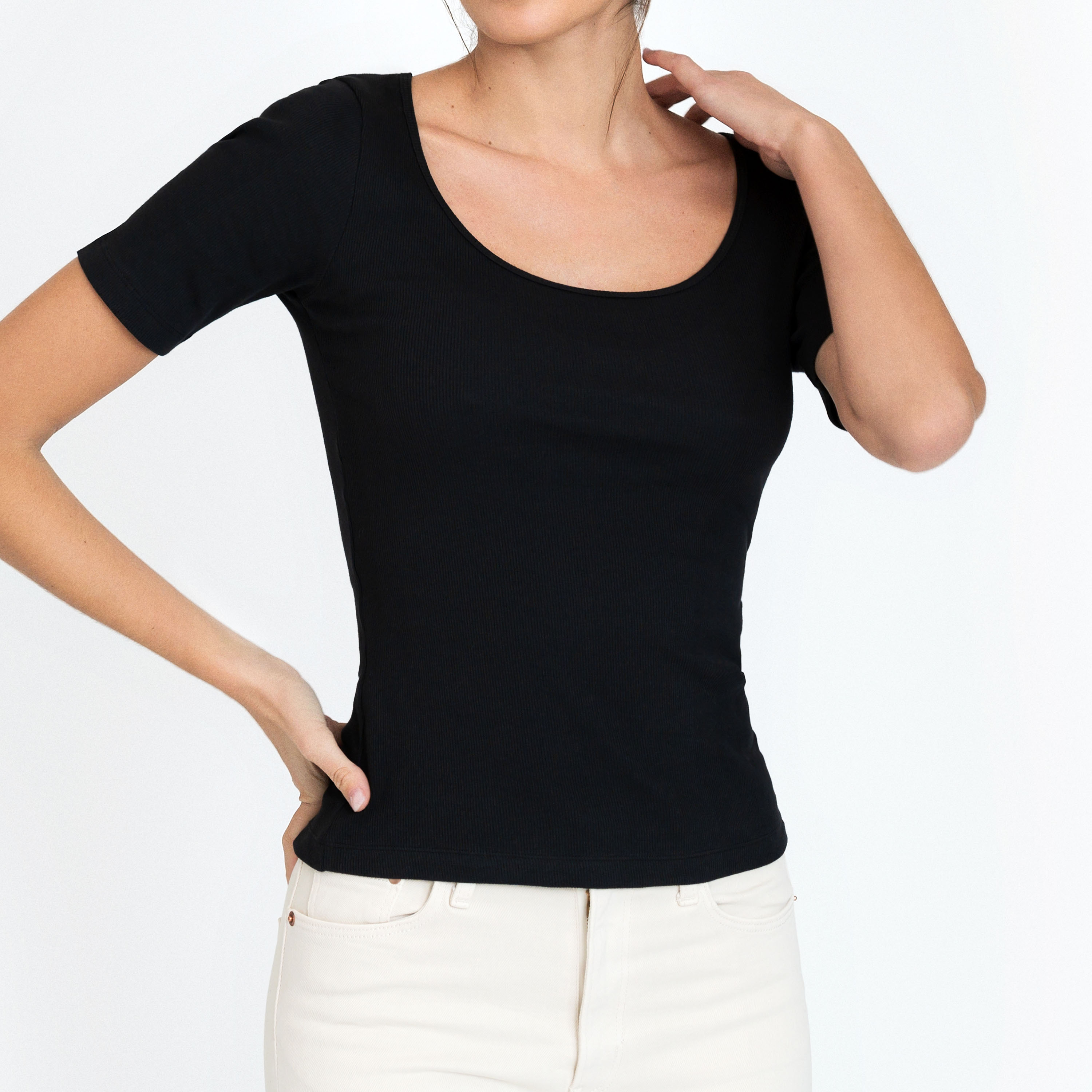 T-shirt ribbed